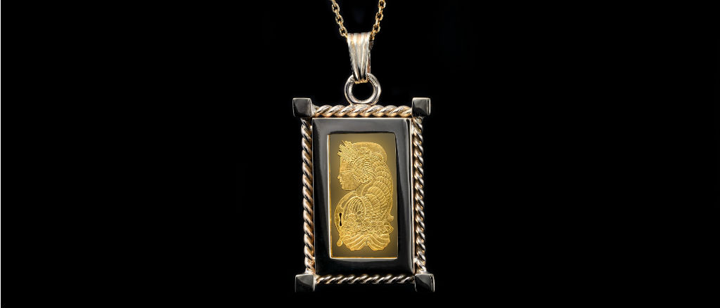 The Goldsmithy 9ct Yellow Gold Rope Frame