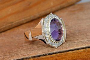 The Goldsmithy Amethyst Bespoke Ring