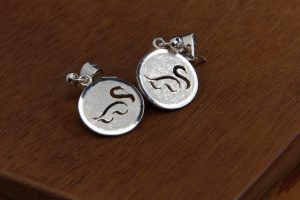 Silver earrings Silent Auction