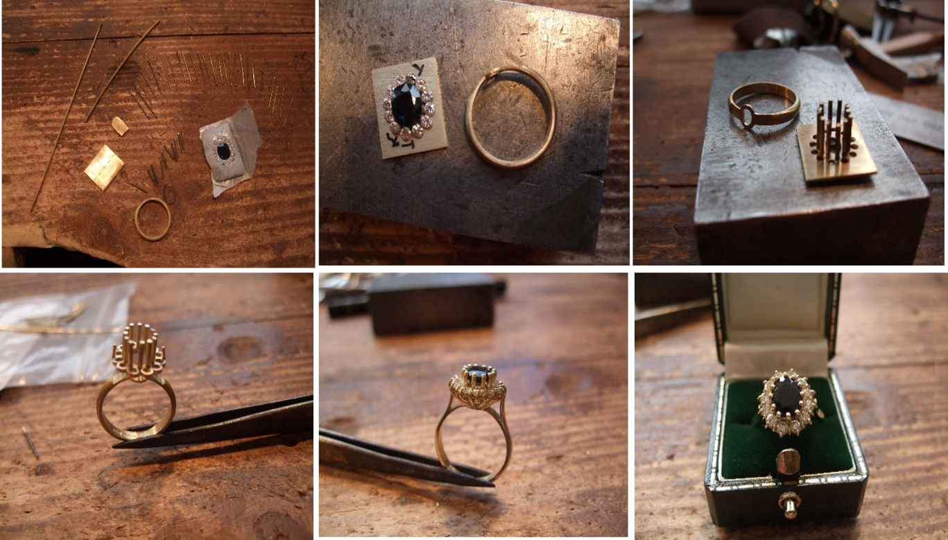 Hand Crafted Princess Diana Inspired Ring